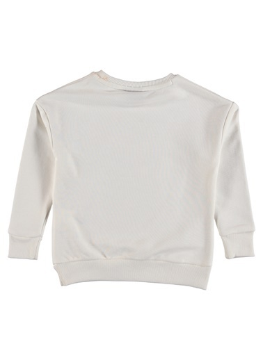 Hummel Hummel 9206539003 Matilda Renkli Çizgili Çocuk Sweatshirt Beyaz